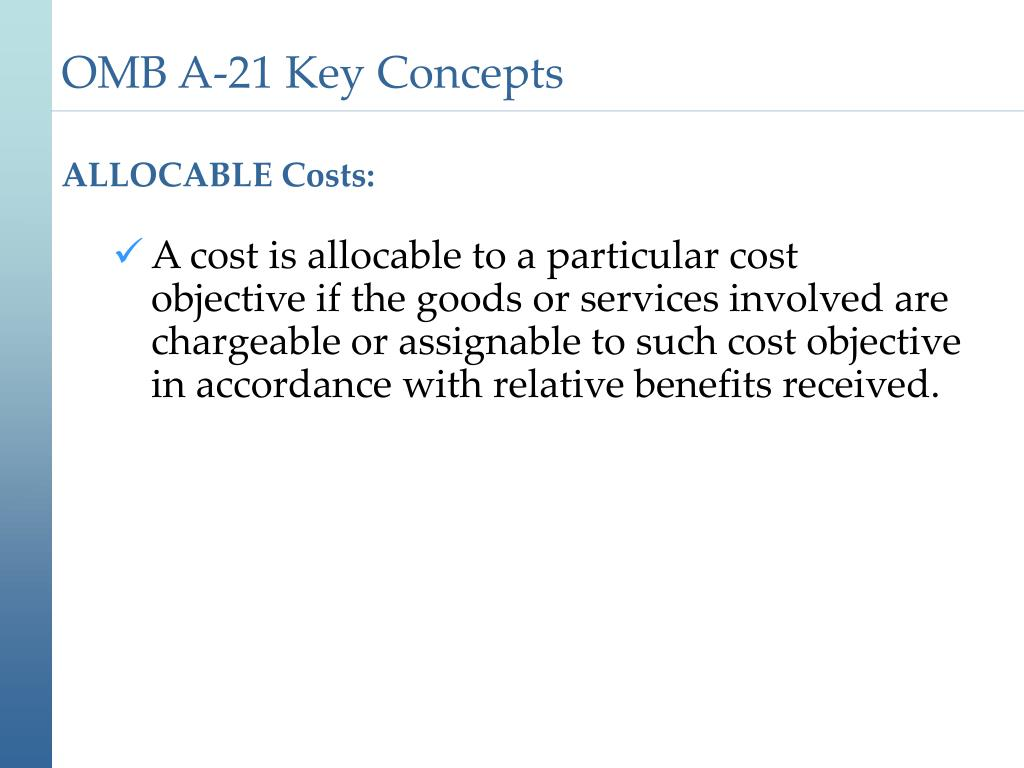 ALLOCABLE Costs: