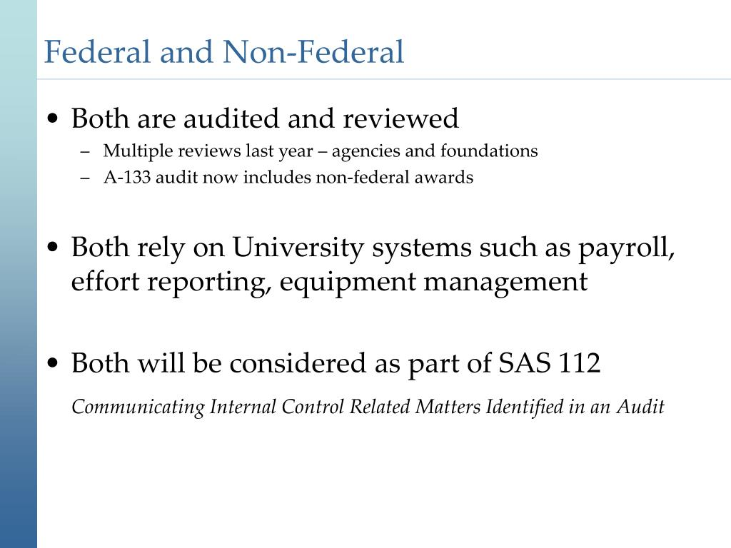 Federal and Non-Federal