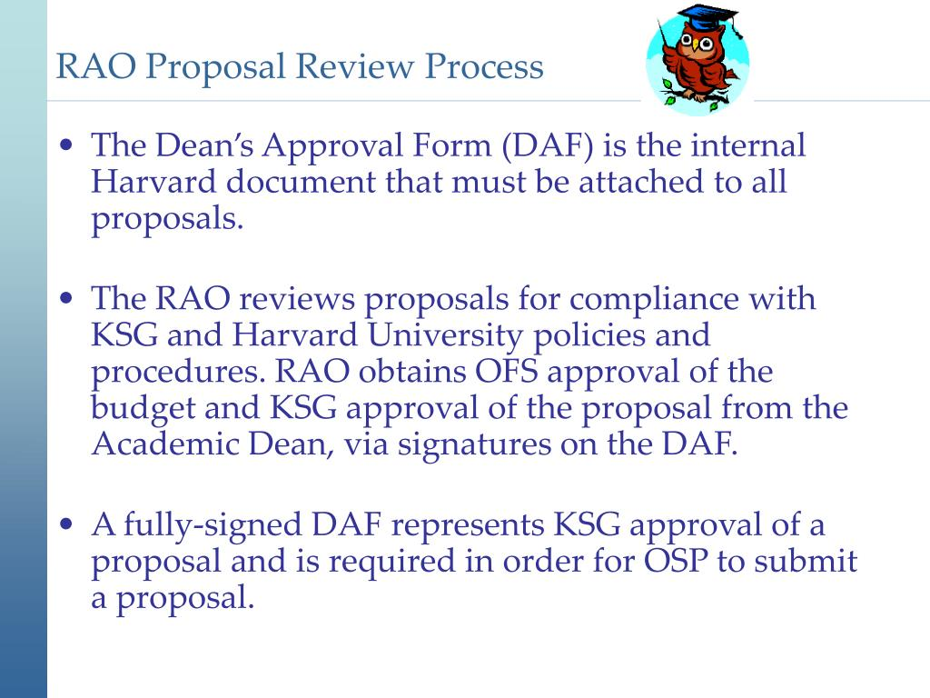 RAO Proposal Review Process
