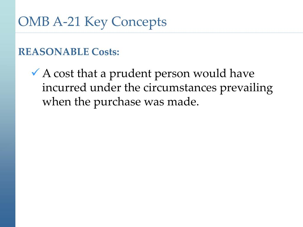 REASONABLE Costs: