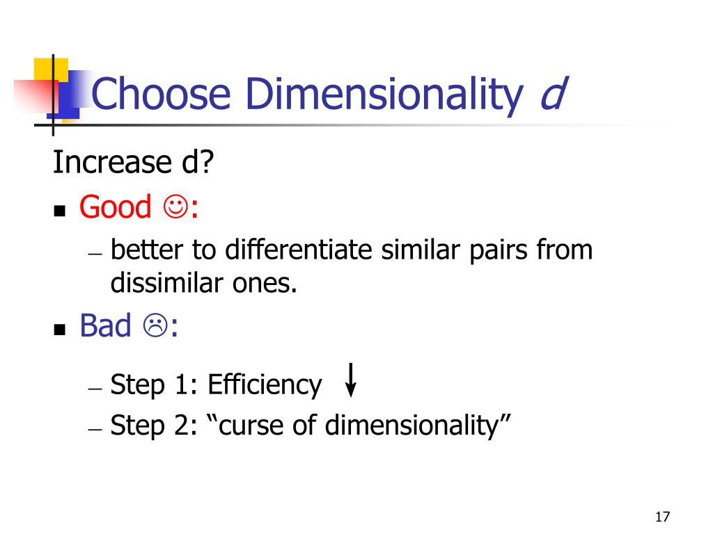 Choose Dimensionality
