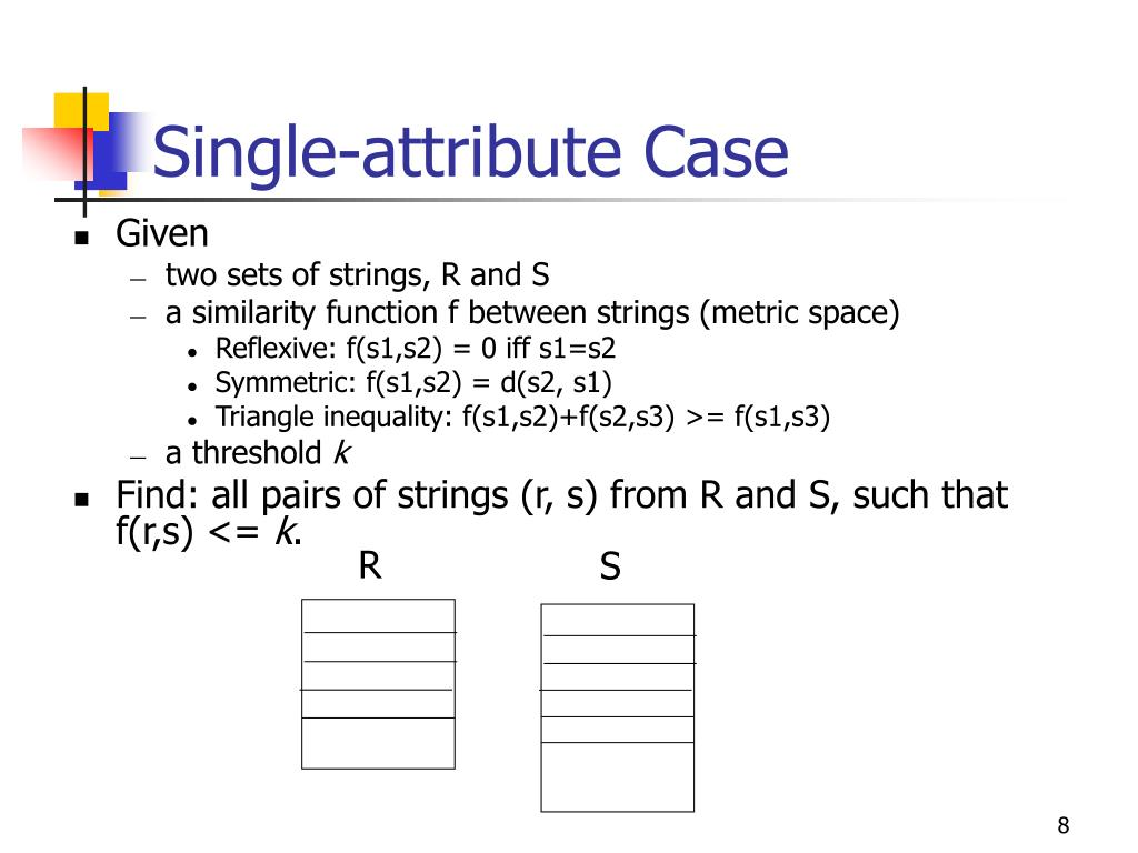Single-attribute Case