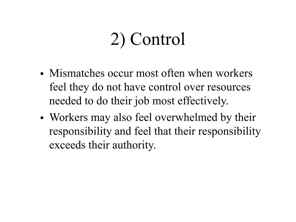 2) Control