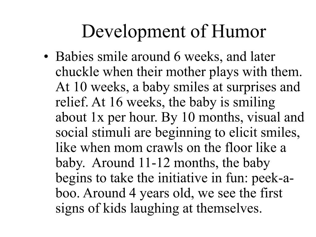 Development of Humor