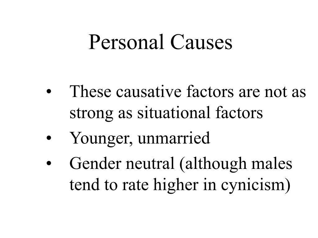 Personal Causes