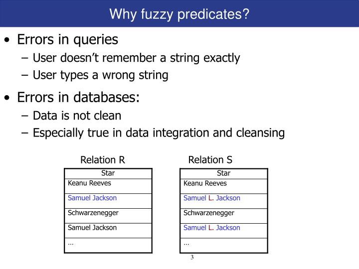 Why fuzzy predicates