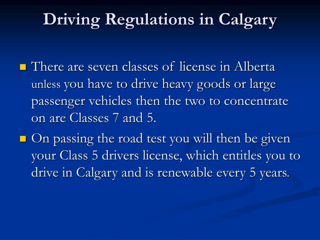 Driving Regulations in Calgary