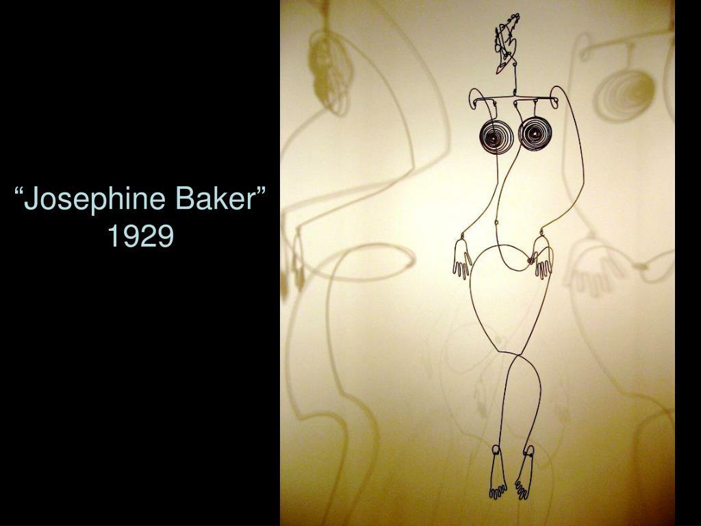 """""""Josephine Baker""""  1929"""