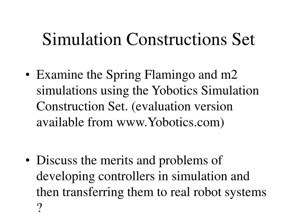 Simulation Constructions Set