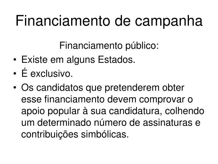 Financiamento de campanha