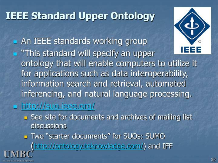 IEEE Standard Upper Ontology