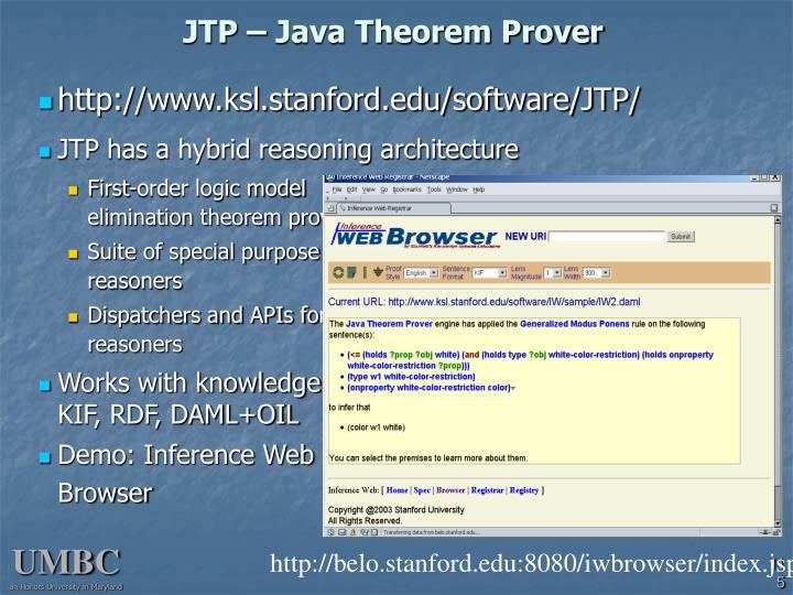 JTP – Java Theorem Prover