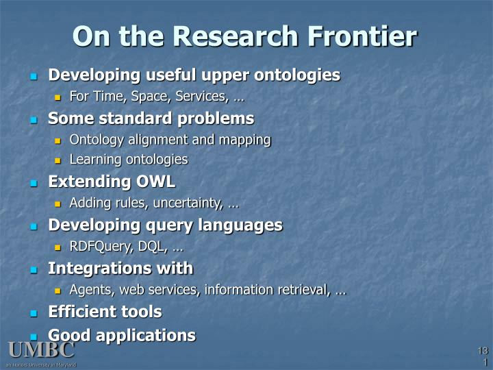 On the Research Frontier