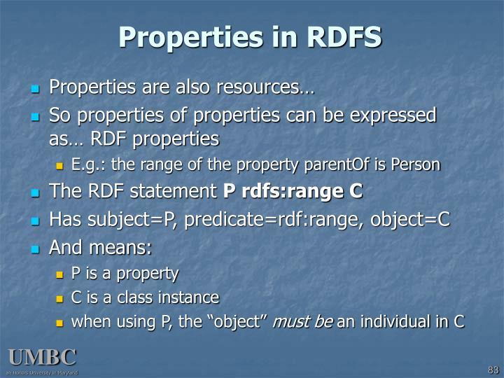 Properties in RDFS