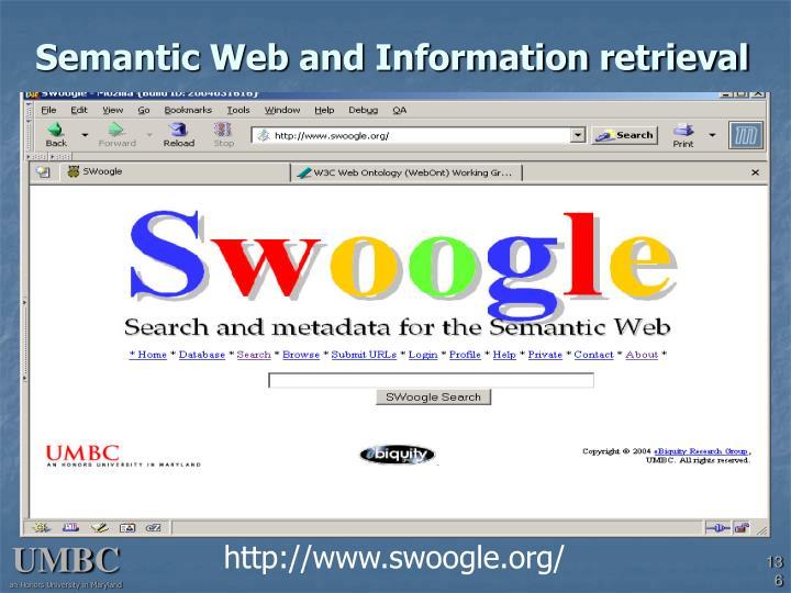 Semantic Web and Information retrieval