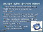 solving the symbol grounding problem