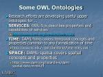 some owl ontologies