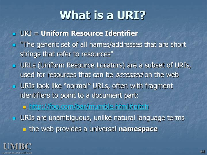 What is a URI?
