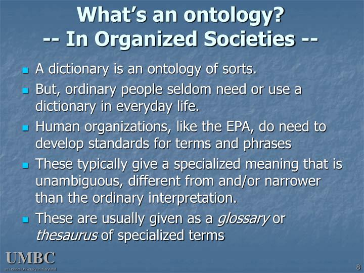 What's an ontology?