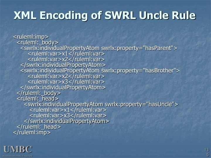 XML Encoding of SWRL Uncle Rule