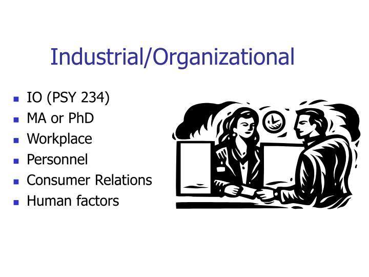 Industrial/Organizational