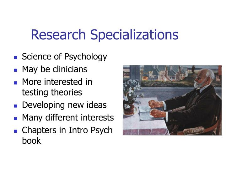 Research Specializations