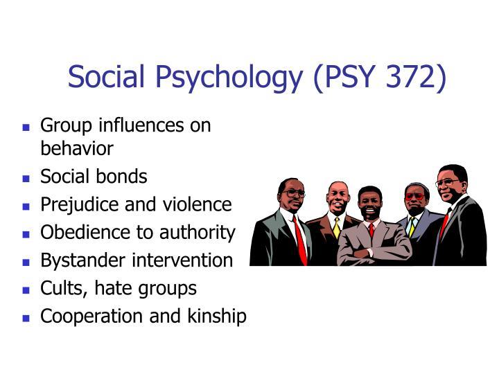 Social Psychology (PSY 372)