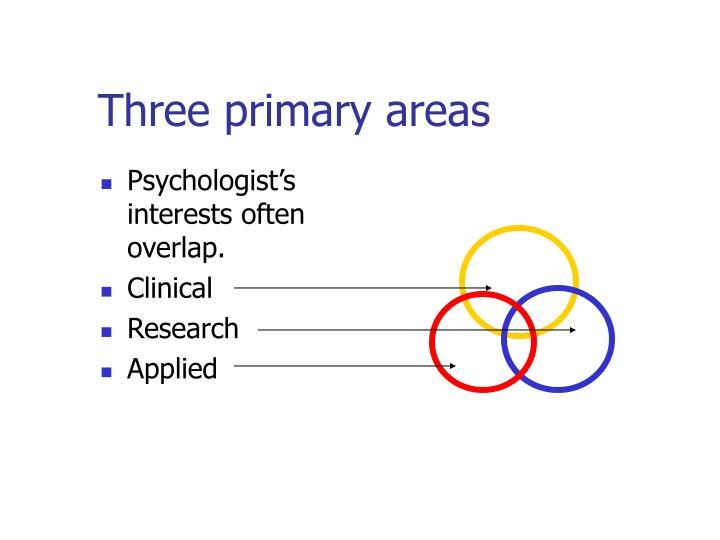 Three primary areas