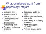 what employers want from psychology majors