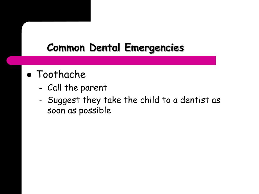 Common Dental Emergencies