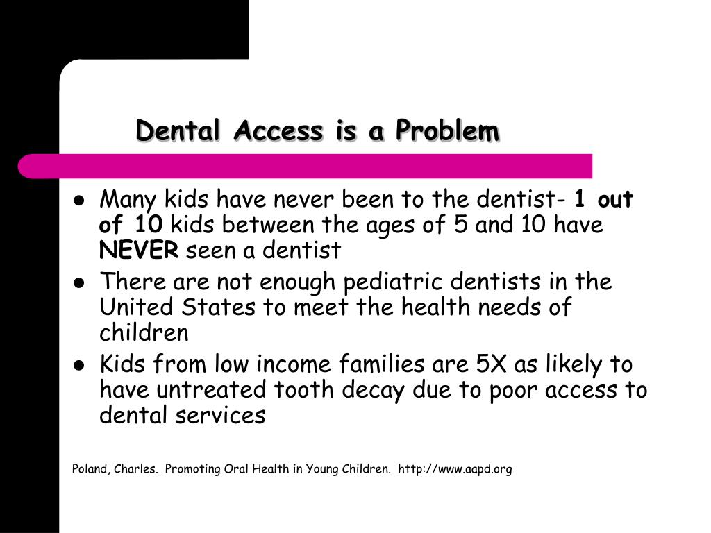 Dental Access is a Problem
