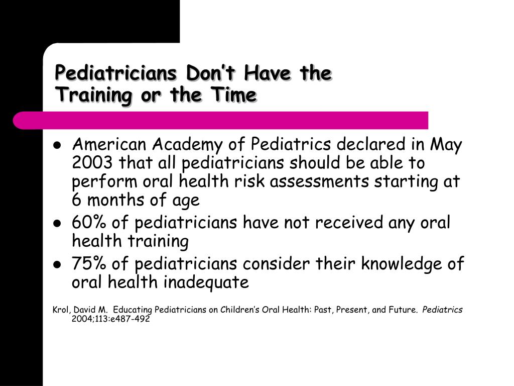 Pediatricians Don't Have the Training or the Time