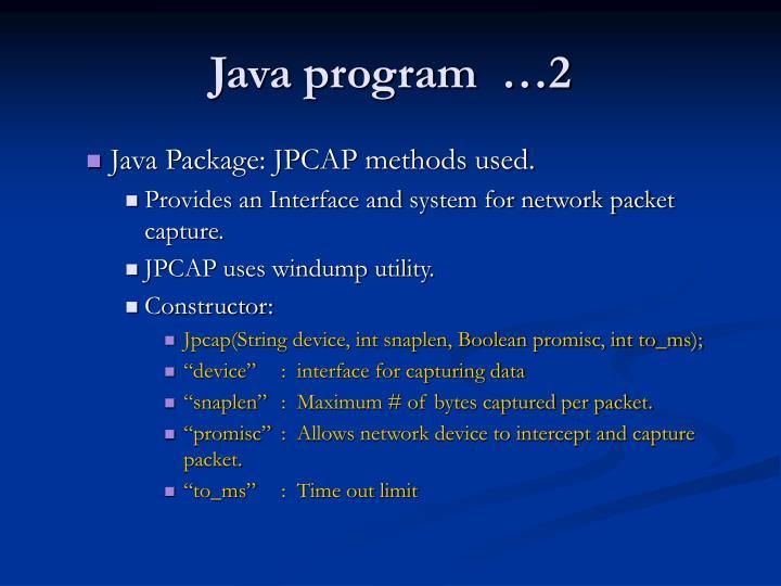 Java program  …2