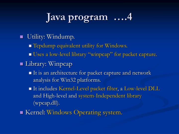 Java program  ….4