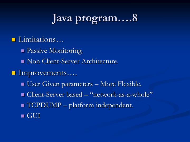 Java program….8