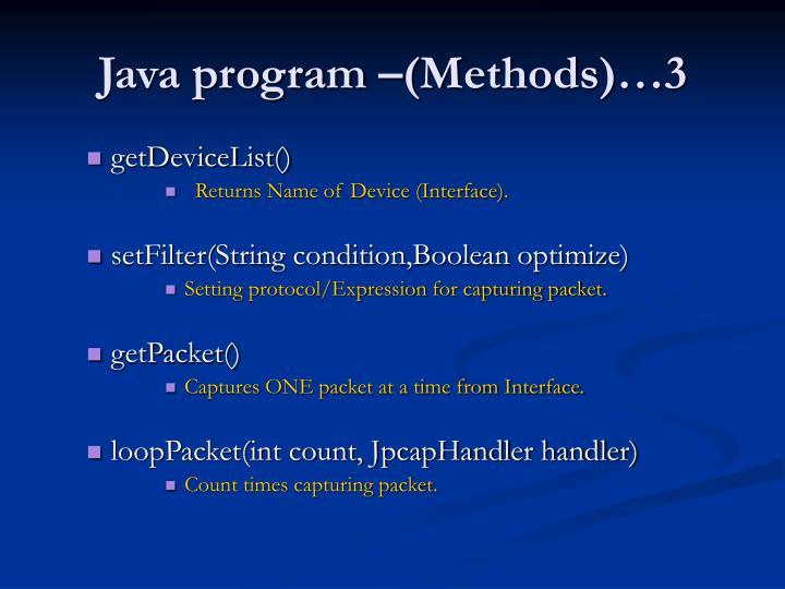 Java program –(Methods)…3