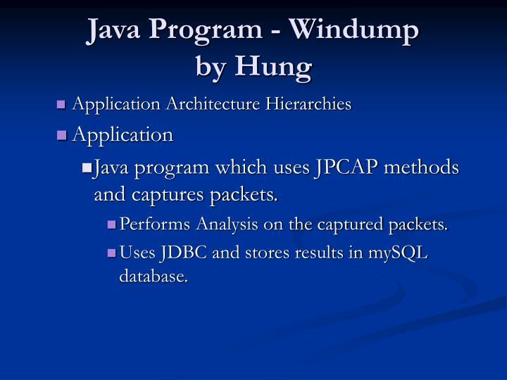 Java Program - Windump