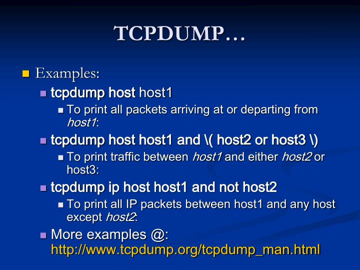 TCPDUMP…