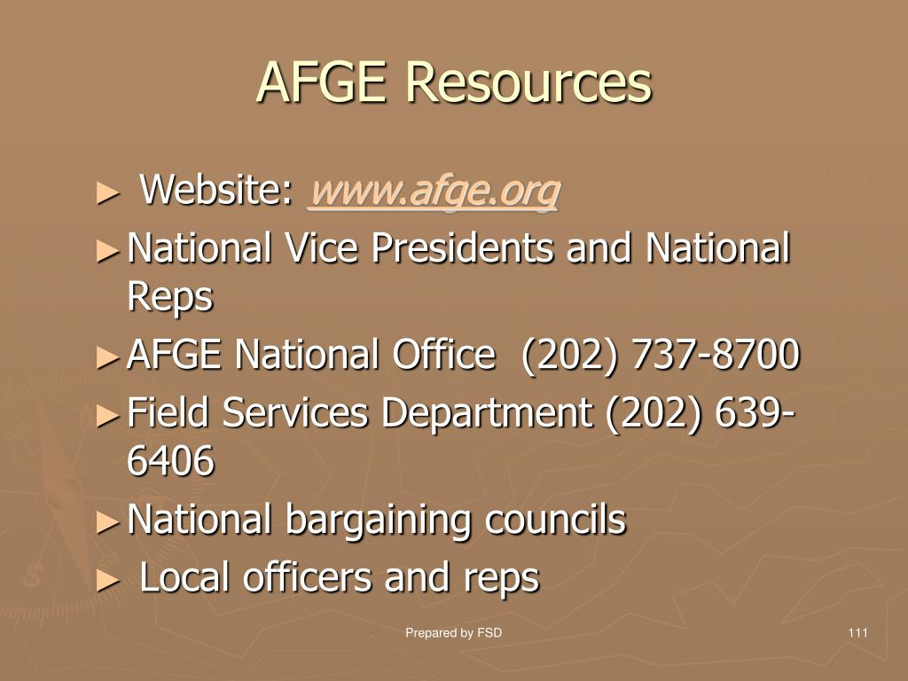 AFGE Resources