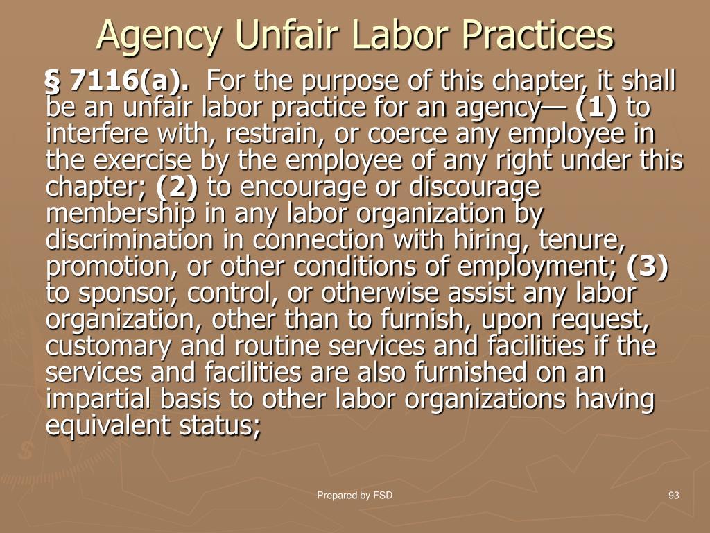 Agency Unfair Labor Practices