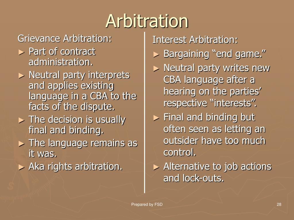 Grievance Arbitration:
