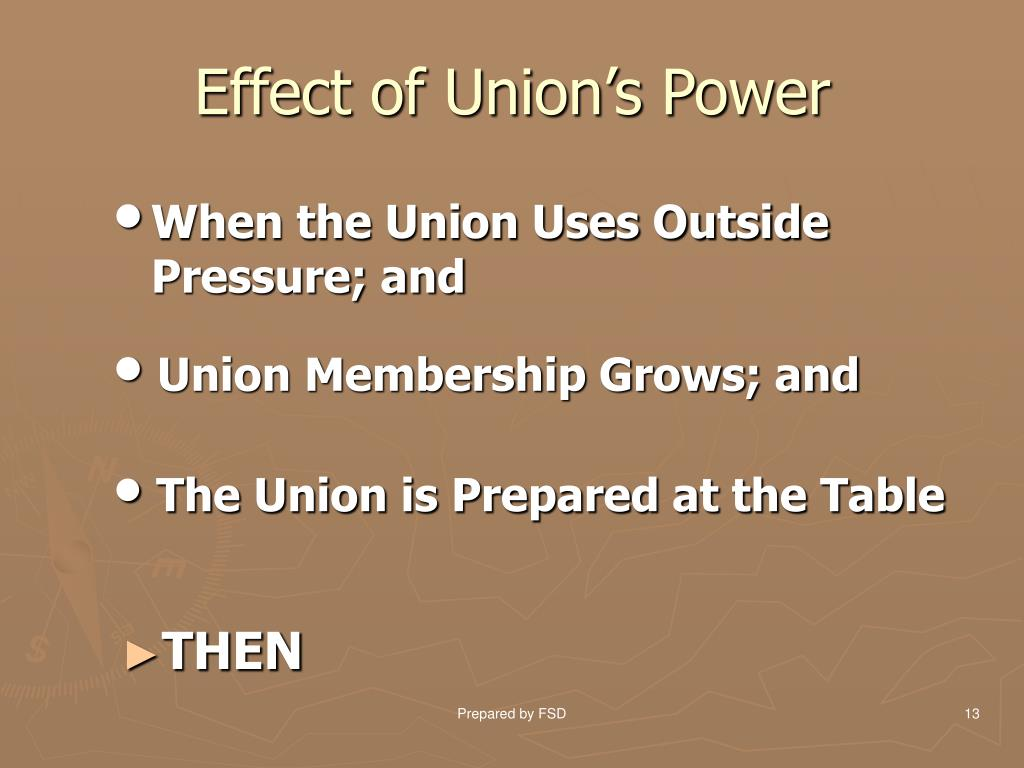 Effect of Union's Power