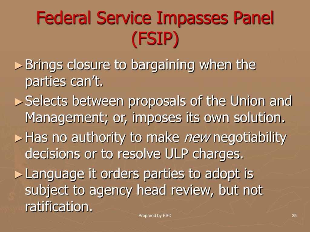 Federal Service Impasses Panel
