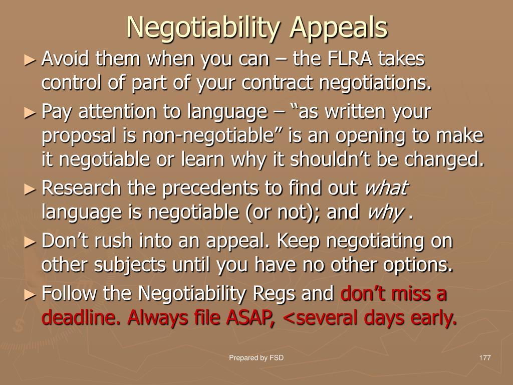 Negotiability Appeals