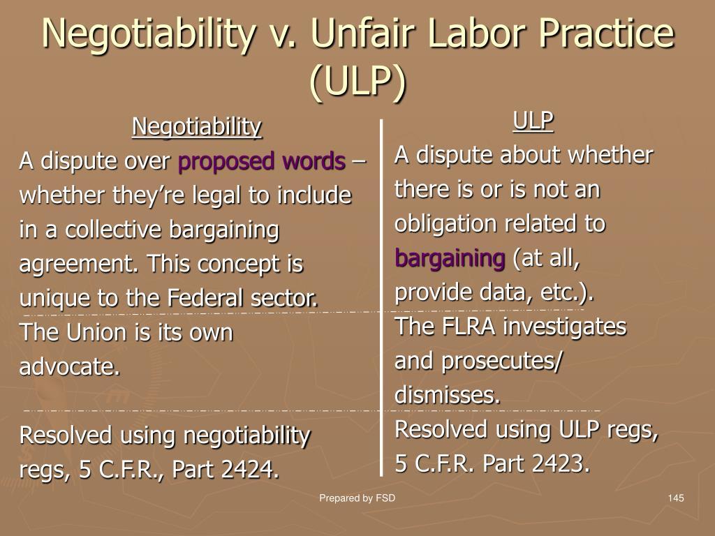 Negotiability