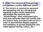 q what if the interests of 2 bargaining unit members conflict with each other