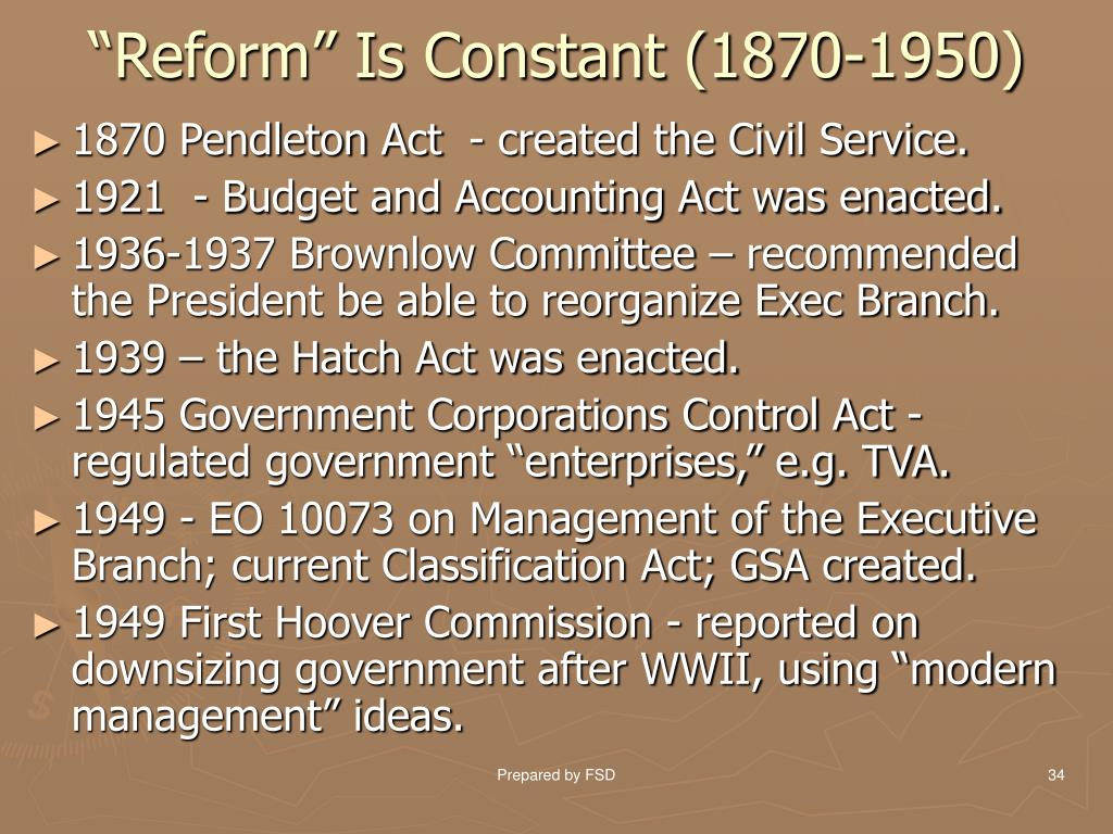 """Reform"" Is Constant (1870-1950)"