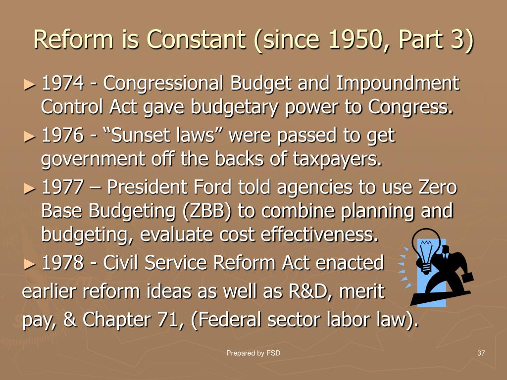 Reform is Constant (since 1950, Part 3)