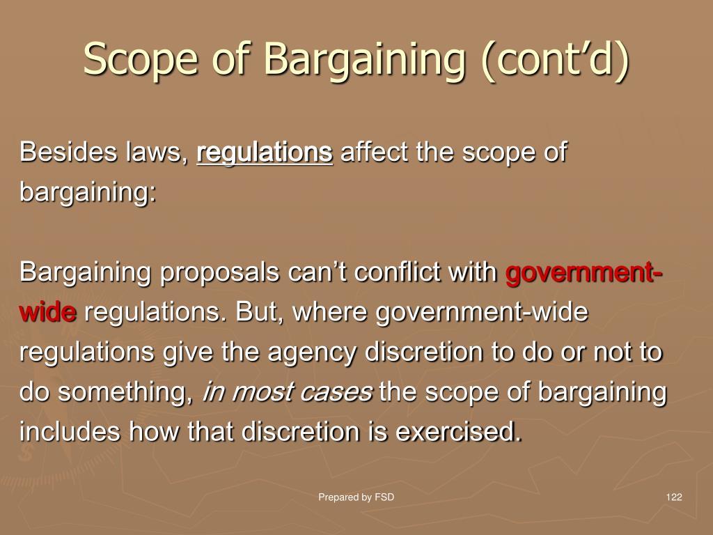Scope of Bargaining (cont'd)