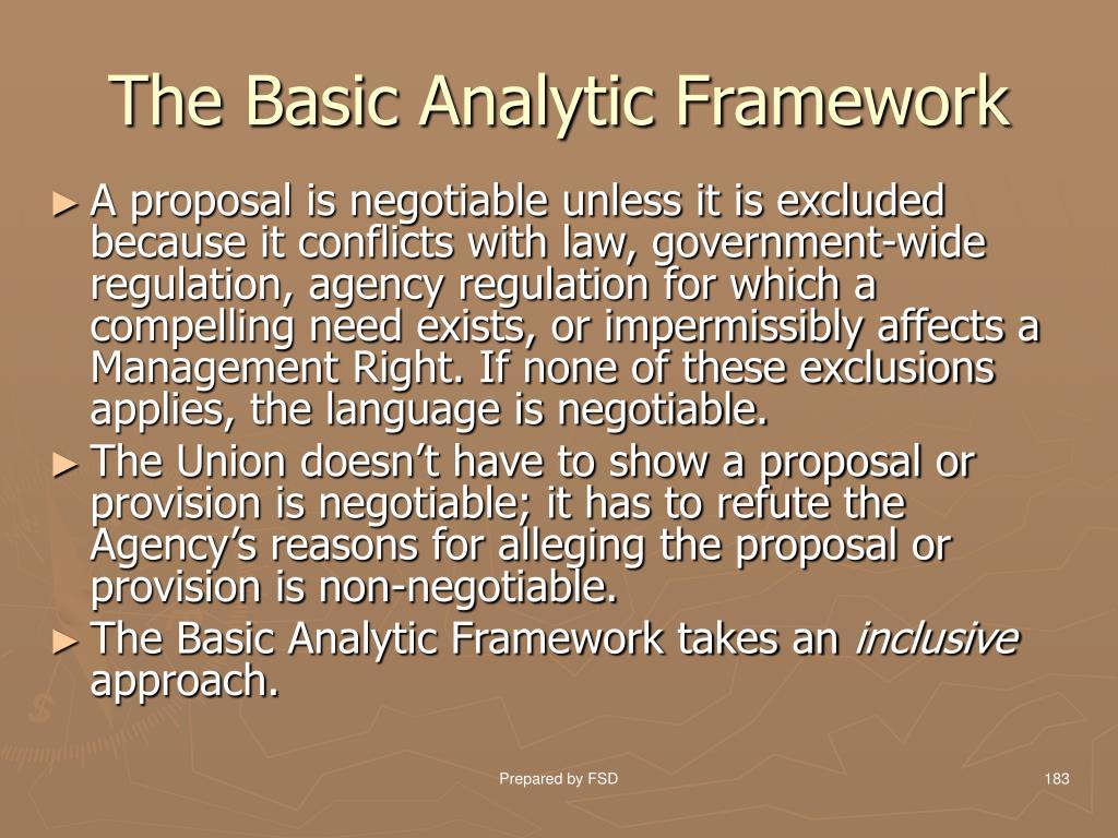 The Basic Analytic Framework